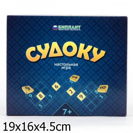 Настольная игра развивающая Биплант Судоку 10004 настольная игра развивающая биплант сыроешки 10041