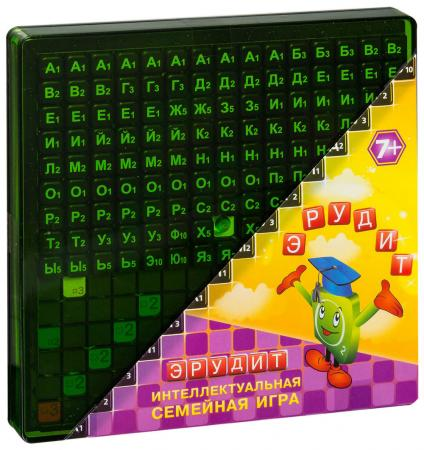 Настольная игра логические Биплант  Эрудит (черные фишки) 10011 настольные игры биплант настольная игра эрудит черные фишки 10011