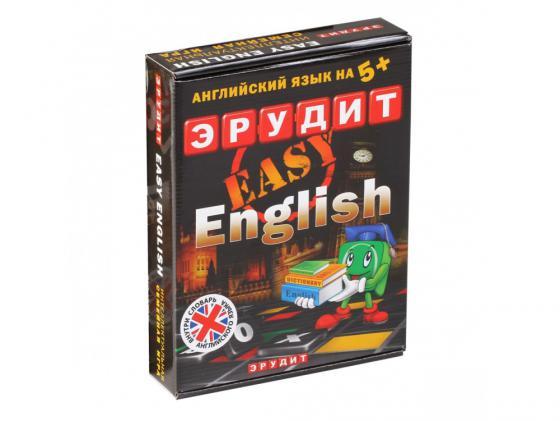 Настольная игра развивающая Биплант Эрудит Easy English-подарочный 10007