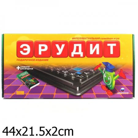 Настольная игра развивающая Биплант Эрудит Подарочный набор 10008 настольная игра развивающая биплант сыроешки 10041