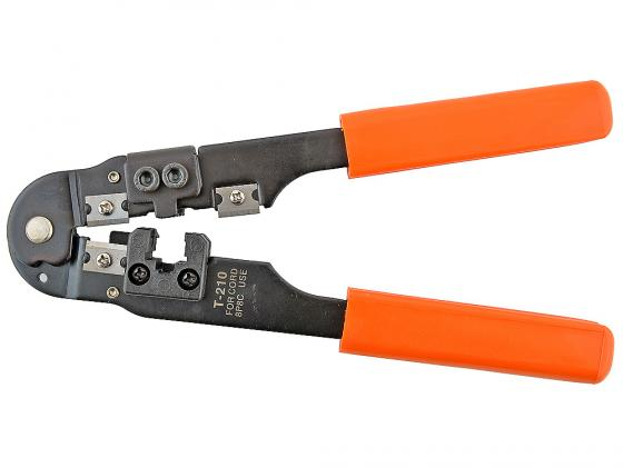 Клещи для обжима Gembird/Cablexpert T-210/60 для витой пары RJ-45 8p8c клещи для обжима телефонных и компьютерных клемм rj gross 17719