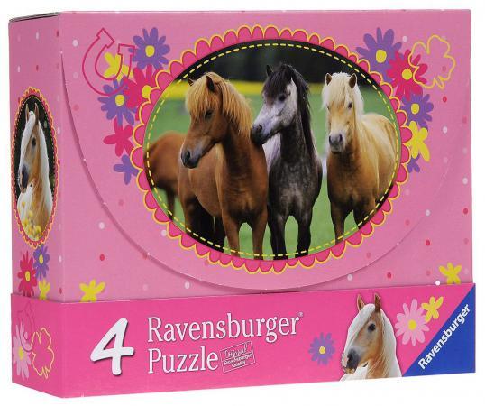 Пазл Ravensburger 4 в 1 Красивые лошади (2х64шт., 2х81шт.) 072682 от 5+ other tamehome 2015 1 4 hifi
