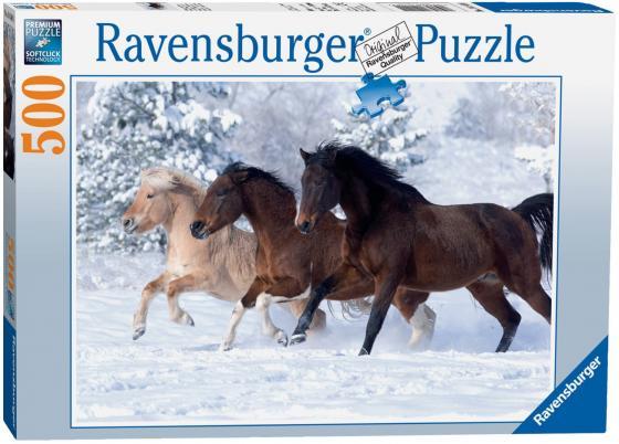 Пазл Ravensburger Галопом по снегу 500 элементов ravensburger пазл галопом по снегу 500 деталей