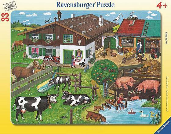 Пазл 33 элемента Ravensburger Животные на ферме