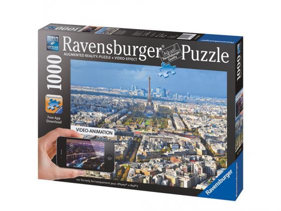 Пазл Ravensburger Крыши Парижа с видео-анимацией 1000 элементов пазл ravensburger озеро эйб 1000 элементов