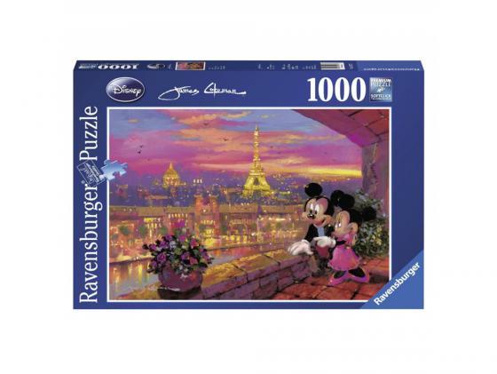 Пазл Ravensburger Микки и Минни в Париже 1000 элементов пазл ravensburger сейшелы 1500 элементов