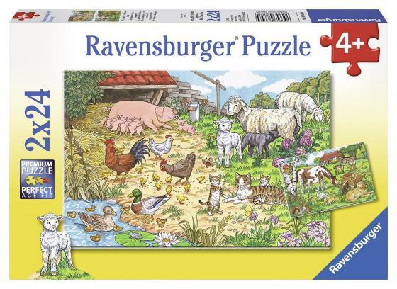 Набор пазлов Ravensburger Поездка в деревню 2 х 24 элемента набор пазлов пожарная бригада 2 х 24 детали