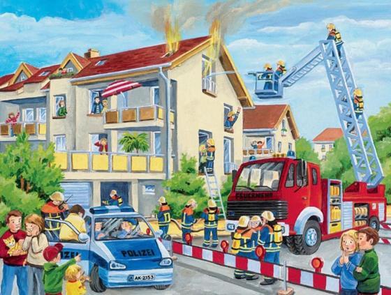 Пазл 39 элементов Ravensburger «Пожарные спешат на помощь» 06393