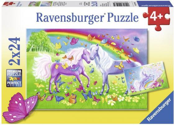 Набор пазлов 48 элементов Ravensburger Радужные лошади ravensburger набор пазлов щенячий