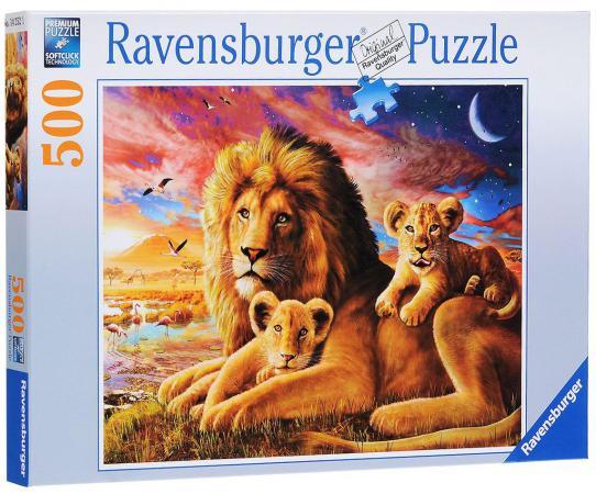Пазл 500 элементов Ravensburger Семейство львов 142521