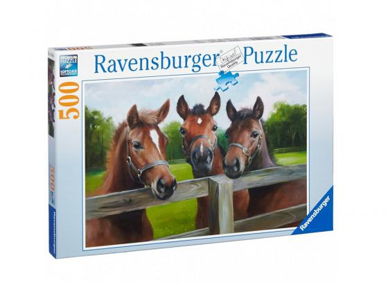 Пазл Ravensburger   Три лошади 500 элементов 145669