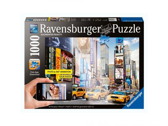 Пазл Ravensburger Утро на Таймс-сквер с видео-анимацией 1000 элементов пазл ravensburger озеро эйб 1000 элементов