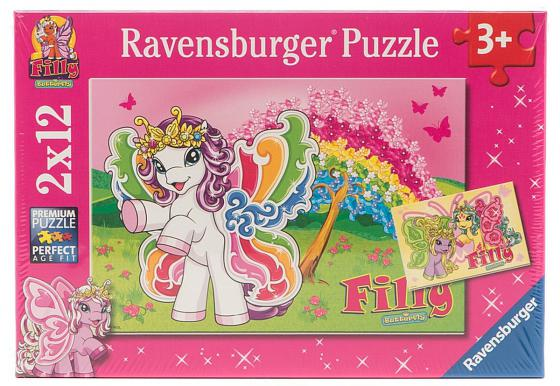 Пазл 24 элемента Ravensburger 2 в 1 Филли Принцесса Скарлет 075775 ravensburger игра филли ravensburger