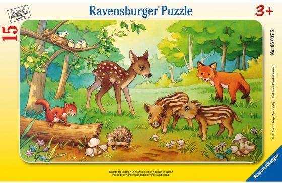 Пазл 15 элементов Ravensburger Детеныши животных в лесу детеныши животных
