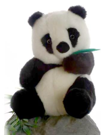 Мягкая игрушка панда Hansa Панда 25 см белый черный плюш синтепон 1723 hansa 4137 пекинес 27 см
