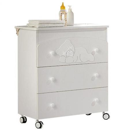 Комод пеленальный с ванночкой Baby Expert Coccolo Lux (white) комоды baby expert baby coccolo lux пеленальный со стразами