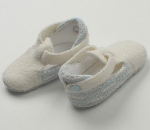 Пинетки 100% шерсть Jacot белые ВВ01323 размер 9-11 варежки jacot двойные голубые разм 10 11 w41вв1450185