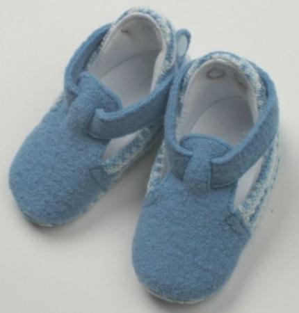 Пинетки Jacot 100% шерсть, цвет джинсовый размер 9-11 ВВ01305 варежки jacot двойные голубые разм 10 11 w41вв1450185