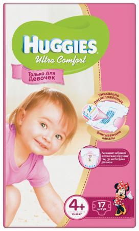 Подгузники Huggies Ultra Comfort 4+ для девочек (10-16 кг) 17 шт.