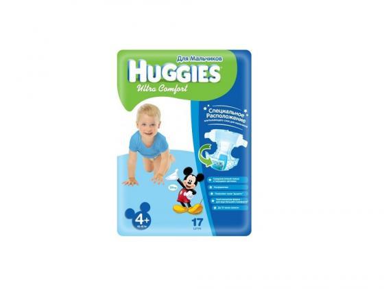 Подгузники Huggies Ultra Comfort 4+ для мальчиков (10-16 кг) 17 шт.