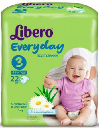 Подгузники Libero EveryDay 3 (4-9 кг) 22 шт. libero comfort 3 4 9 22