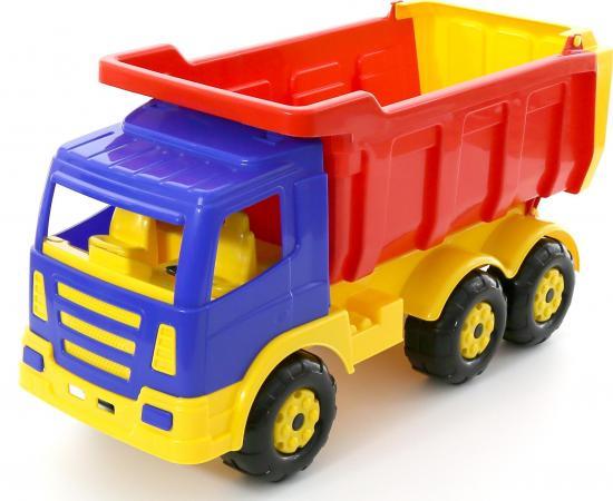 Самосвал Полесье Премиум красный-желтый-синий 6607 самосвал полесье премиум красный желтый синий 6607