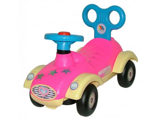 Каталка-машинка Molto Сабрина №2 пластик от 1 года розовый 9219 каталка машинка molto автомобиль каталка пикап красный от 1 года пластик