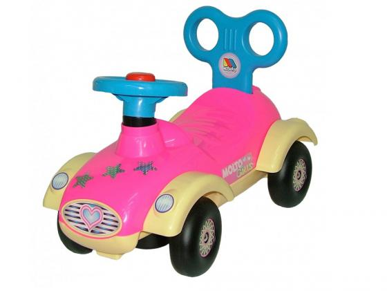 Каталка-машинка Полесье Сабрина пластик до 1 года с гудком розовый 7970 цена