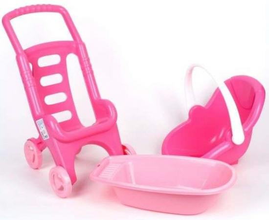 Полесье Полесье 42842 Тележка Pink Line 3х1 (в сеточке) полесье полесье каталка mig скутер