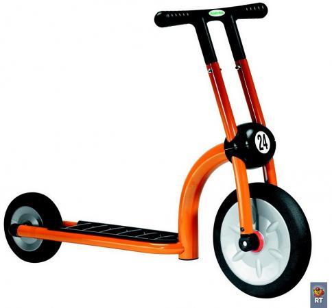Самокат двухколёсный Italtrike Дружный сосед оранжевый