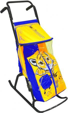 Санки-коляска RT Снегурочка 2-РТигренок до 50 кг дюспо металл желтый голубой nobrand мобильный 2 сторонний 50 пар