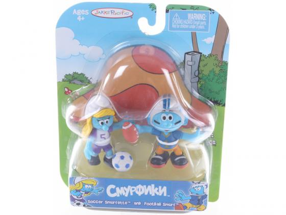 Смурфики. Фигурка Смурфика 5,7 см (33230) Soccer Smurfette and Football Smurf 4+ inflatable children s football gate folding portable ultralight kids soccer door in and out soccer training toys