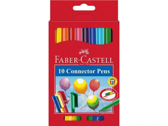 Фломастеры Faber Castell с клипом в картонной коробке 10 шт 155510 фонарь maglite 2d синий 25 см в картонной коробке 947191