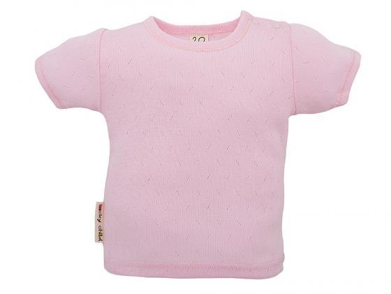 Футболка детская Lucky Child Ажур размер 28 (98-104) Розовая