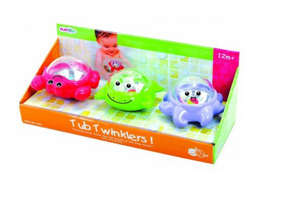 Интерактивная игрушка PlayGo для ванной Мерцающие поплавки от 1 года разноцветный набор для ванной playgo утята 2430