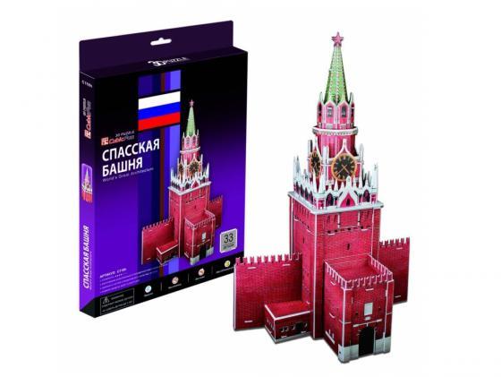 Пазл 3D 33 элемента CubicFun Спасская башня (Россия) C118H конструкторы cubicfun 3d пазл эйфелева башня 2 франция