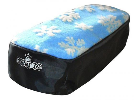 Чехол для снегокатов RT 2713 мех ткань голубой с белыми снежинками чехол для снегокатов rt 2711 мех ткань белый черный