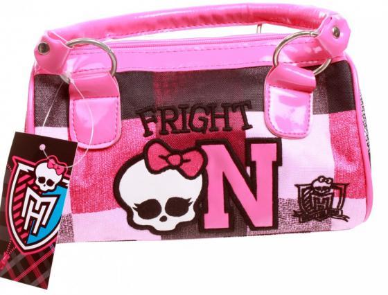 Сумка Monster High Школа монстров рисунок розовый 1309 сумка monster high be a monster пляжная 1363 белый синий рисунок