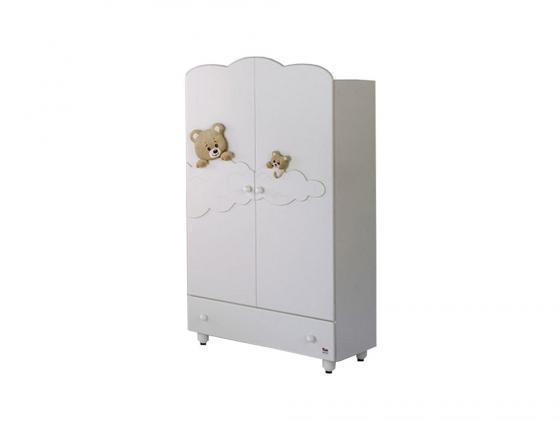 Шкаф двухстворчатый Baby Expert Abbracci-Trudi (белый) аксессуары для детской комнаты baby expert полка вешалка abbracci by trudi