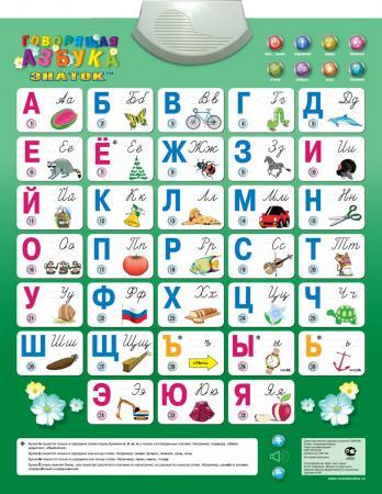 Электронный звуковой плакат Знаток Говорящая азбука 70082 знаток электронный звуковой плакат говорящая азбука