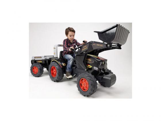 Трактор-экскаватор педальный с прицепом черный 204 см трактор с прицепом св ход 36см dickie