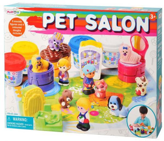 Набор пластилина Playgo Зоомагазин набор для ванной playgo утята 2430