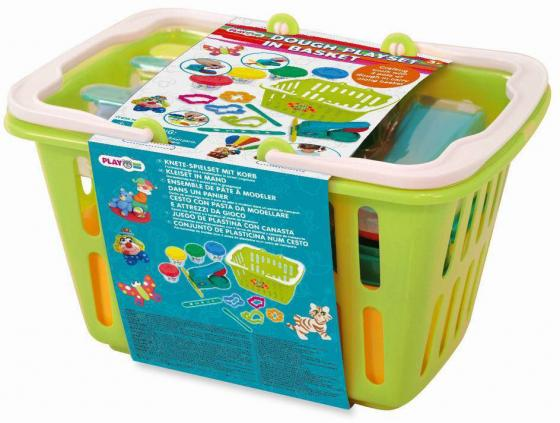 PlayGo Набор с пластилином и аксессуарами в корзине 8750 всё для лепки playgo набор с формами и инструментами