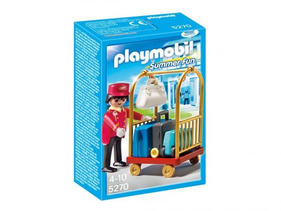 Конструктор Playmobil Отель: Носильщик с чемоданами 5270 playmobil 5266 отель детский клуб с танц площадкой