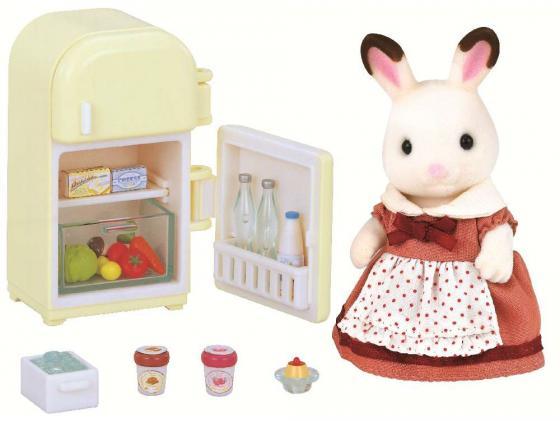 Игровой набор Sylvanian Families Мама кролик и холодильник 2202 набор холодильник с продуктами sylvanian families