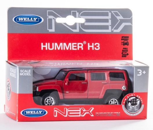 Автомобиль Welly Hummer H3 1:34-39 цвет в ассортименте funlight 1 pair 7 inch black round 36w led headlights with high low beam for jeep wrangler jk tj hummer h1