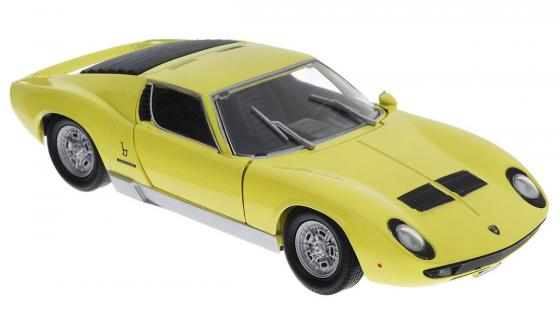 Автомобиль Welly Lamborghini Miura 1:18 желтый 18017W