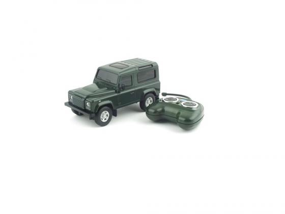 Машинка на радиоуправлении Welly Land Rover Defender зелёный от 3 лет пластик 84005W военный автомобиль на радиоуправлении tongde в72398 пластик от 3 лет зелёный