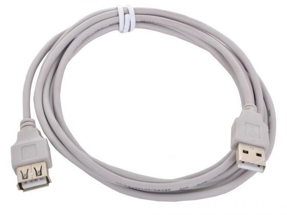 Кабель удлинительный USB 2.0 AM-AF 1.8м Gembird CC-USB2-AMAF-6 кабель удлинитель usb 2 0 am af gembird cablexpert 1 8м пакет cc usb2 amaf 6