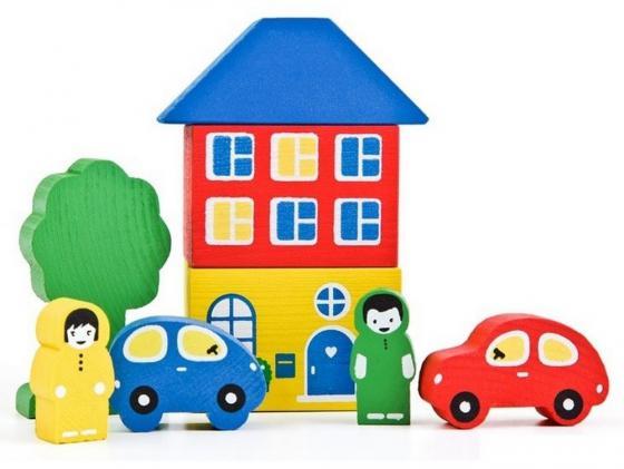 Конструктор Томик Цветной городок 8 элементов 8688-3 томик деревянный конструктор цветной городок 41 деталь